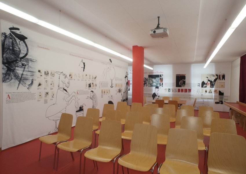 "Studio and archive of the cartoonist Carl Böckli (aka ""Bö"")"