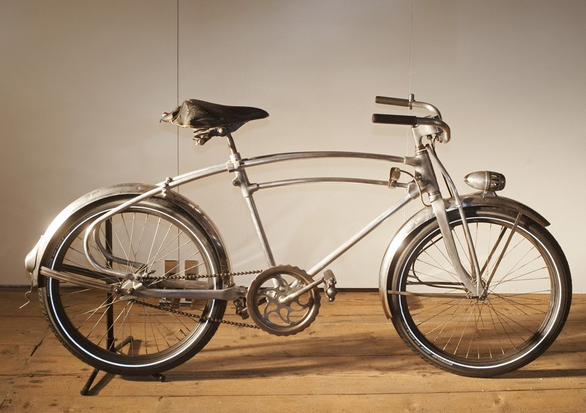 An elegant bicycle made of aluminium, c.1935