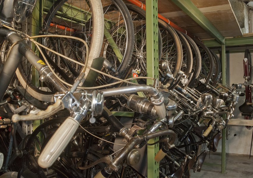 There are a further 150 bicycles in storage – most of them fully functional.